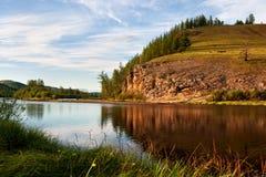 Tributario del fiume Uur in Mongolia Fotografia Stock Libera da Diritti