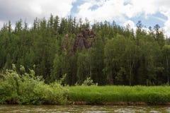 A tributary of the big river - Yenisey River. Krasnoyarsk region, Russia Stock Photo