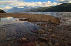 Lake McDonald in Glacier National Park. Tributary entering Lake McDonald in Glacier National Park Stock Photography