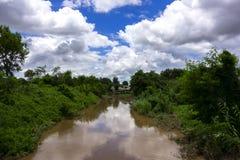 Tributary of Mekok River. Stock Image