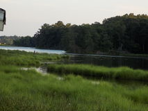 A tributary of the Patuxent River in Benedict Maryland Stock Photo