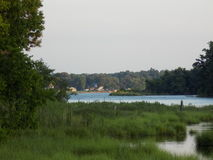 A tributary of the Patuxent River in Benedict Maryland Stock Photos