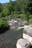 Tributary river in the Ardeche region of France Stock Photos