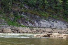 Tributary of the Yenisei River. Krasnoyarsk region, Russia Stock Image