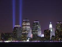 tribute för 911 lampor Fotografering för Bildbyråer