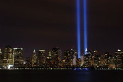 Tribute In Light - 9/11/2010. Image of the Tribute In Light display from 9/11/ 2010 in New York City Royalty Free Stock Image