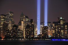 Tribute in Light Close Up. Tribute in Light art display in Manhattan at night on September 11, 2013 Stock Photos