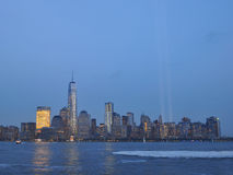 Tribute in Light at Dusk Royalty Free Stock Photography
