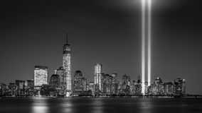Tribute in Light 2013. Tribute in Light memorial on September 11, 2013 in Jersey City, New Jersey Royalty Free Stock Photography