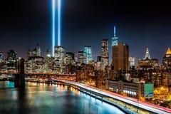 Tribute in Light memorial. On September 11, 2014 in  New York Royalty Free Stock Photo