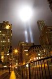 Tribute in light on september 11th, 2011 Stock Photos