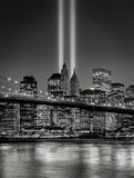 Tribute in Light, September 11 Commemoration, New York City Royalty Free Stock Images