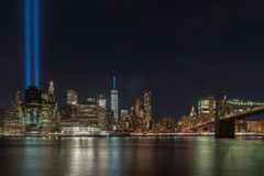 Tribute in Light - September 11 Royalty Free Stock Photography