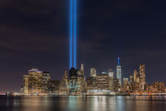 Tribute in Light - September 11 Royalty Free Stock Photo