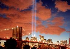 Tribute in Lights 2006. 5 years anniversary of 9/11 Royalty Free Stock Photo