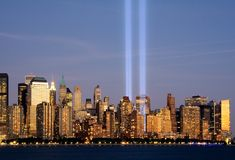 Tribute in Lights Stock Photo