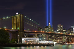 Tribute in Lights, 9/11 Manhattan, 2016 stock photography