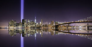 Tribute lights pano Royalty Free Stock Image