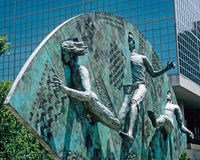 Tribute sculpture in Centennial Olympic park Stock Photography