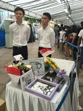 Tribute table for the public to pay last respect to ex prime minister of Singapore Mr Lee Kuan Yew. Drawings and cards adorn the tribute table for the ex prime stock photography