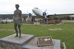 Tribute to Amelia Earhart, Harbour Grace, Newfoundland. Canada Stock Photography