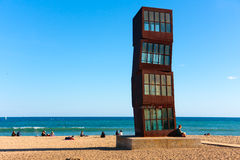 Barcelona beach, Tribute to Barceloneta Royalty Free Stock Photos