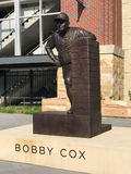 Tribute to Bobby Cox, Sun Trust Park, Atlanta, GA. A bronze statue dedicated to Atlanta Braves manager Bobby Cox is outside of Sun Trust Park in Atlanta, GA royalty free stock images