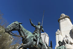 Tribute to Cervantes, Madrid Stock Image