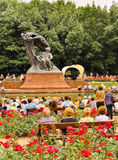 Tribute to Chopin music, Warsaw Stock Photo