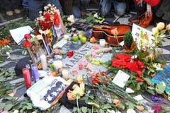 Tribute to Legendary Beatles Musician John Lennon. NEW YORK - DECEMBER 8: A tribute to legendary musician John Lennon who was murdered on December 8, 1980 was Stock Images