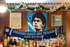 tribute to Maradona in Naples, Italy Stock Images