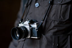 A tribute to Olympus: vintage OM camera Stock Photo