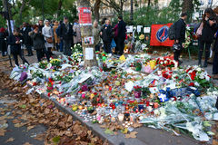 Tribute to the Victims Bataclan Shootings Stock Photo