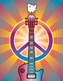 Tribute To Woodstock. A tribute to the Woodstock Music and Art Fair of 1969 stock illustration