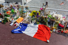 Tributes in Nizza, France, for victims of terror attac Stock Photos