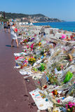 Tributes in Nizza, France, for victims of terror attac Stock Photography