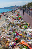 Tributes in Nizza, France, for victims of terror attac Stock Image