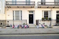 Tributi ad ex Minster principale britannico Margret Thatcher Who Died L Immagine Stock
