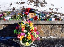 tributi commemorativi improvvisati a coloro che è morto Immagine Stock