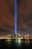 Tributo agli indicatori luminosi, 9/11 di Manhattan, 2010 Fotografie Stock