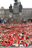 Tributo al primo Presidente ceco Fotografia Stock Libera da Diritti