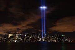 Tributo all'indicatore luminoso - 9/11/2010 immagini stock