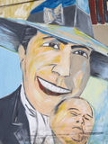 Tributo a Carlos Gardel en San Telmo Market, Buenos Aires, Arge Fotos de archivo libres de regalías