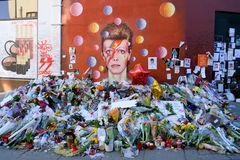 Tributo a David Bowie Imagens de Stock Royalty Free