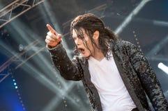 Tributo de Michael Jackson imagenes de archivo