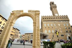 Tributo del arco de Palmira en el centro de Florencia, Italia Imagenes de archivo