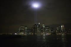 Tributo del World Trade Center Fotos de archivo