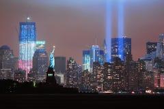 Tributo dell'11 settembre Immagini Stock