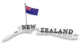 Tributo della Nuova Zelanda Fotografia Stock
