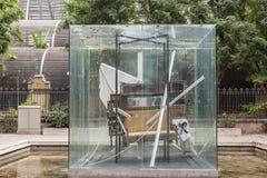 Tributo do ` da escultura ao ` 1983 de Picasso por Antoni Tapies, perto do parque Ciutadella, Barcelona Imagens de Stock